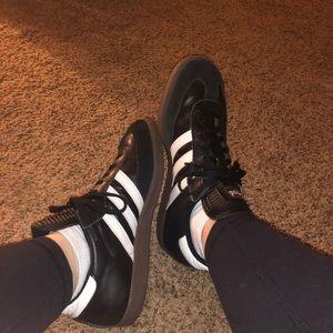 Adidas Samba Black Shoe with White Stripes